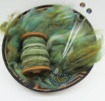 Handspun Hand Dyed Fibers from Lisa Souza